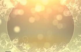 金色粒子浪漫光斑婚礼宣传片Pr模板
