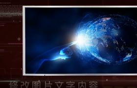 科技创新企业图文展示宣传影片片头会声会影模板下载