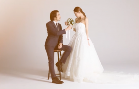 唯美浪漫的婚礼相册展示AE模板素材