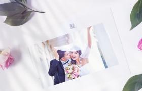 AE模板清新唯美带有边框的婚礼相册展示AE模板