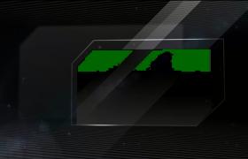 黑色商务条纹图文视频介绍PR模板