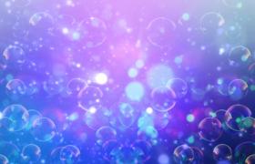 五彩缤纷的泡泡光斑飘动舞台背景视频