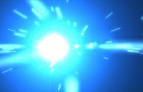 蓝色闪亮粒子科技企业商务炫光Pr模板