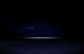 震撼大气晚会蓝色星空背景图片展示Pr模板