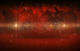 特效转场字幕红色浪漫粒子文字标题展示Pr模板