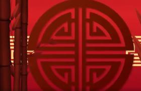 中国风喜庆新年快乐红色剪纸动画AE模板