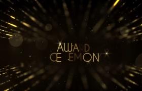 霸气震撼金色粒子企业年会舞台背景视频AE制作模板