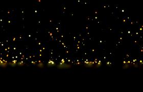 金色闪耀粒子飘落跳跃舞台背景视频素材