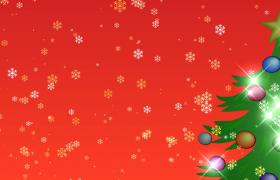 红色喜庆背景动态雪花闪烁圣诞节特效视频素材