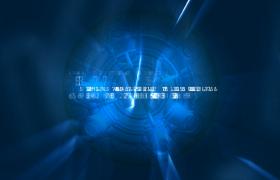 抽象随机数字不断变化蓝色系科技元素视频素材