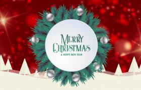 红色喜庆粒子光束旋转修饰热闹圣诞节视频素材参考