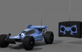 Toys玩具遥控赛车C4D卡通玩具模型
