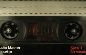 复古旧年代盒式磁带播放循环旋转实拍视频素材