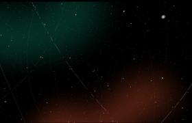 唯美的星空随机点缀流星线条图文展示Pr模板