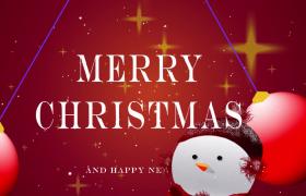 卡通雪人动画切换精美圣诞节庆祝视频素材参考