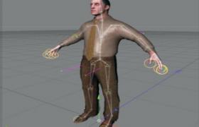 标准商务人事男性人物角色c4d立体模型