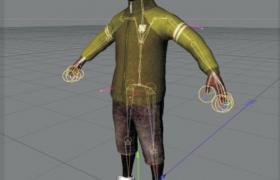 运动服饰黑人男性模特c4d建模模型下载