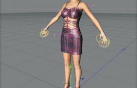 性感的制服女性模特人物角色c4d模型