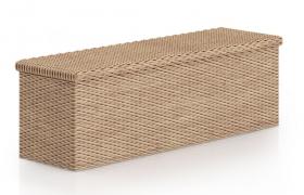 近現代創意風格纖維編制鏤空長凳c4d模型