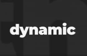 节奏感十足的黑白文字标题抖音快闪宣传片片头视频AE模板