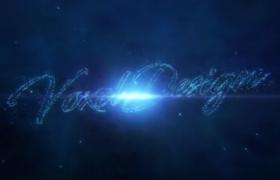 藍色科技粒子遠離匯聚交匯演繹公司企業logo標志AE開場視頻模板