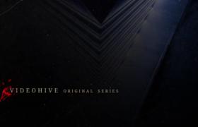 血色阴森恐怖的片头开场文字标题展示AE动画视频模板