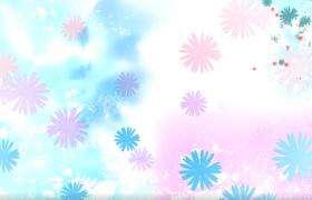 唯美童話般鮮花花朵旋轉凋零舞臺背景MG動畫視頻素材