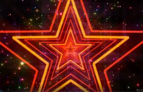 五角星閃爍震撼動感舞臺背景視頻素材下載