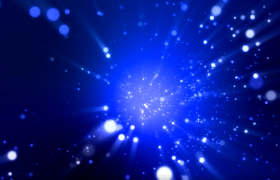 藍色粒子光斑閃耀舞臺背景影視視頻后期效果附加唯美光感特效素材