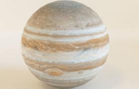 太阳系体型最大的星体:木星C4D模型