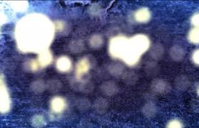 蓝色六边形悬浮粒子片头字幕展示会声会影模版