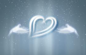 曾经我爱你主题爱情告白白色粒子特效会声会影模版