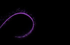 三种彩色光线接连旋转出现舞台背景特效视频素材