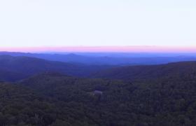 高清实拍晨光熹微群山峻岭唯美大自然景色视频素材