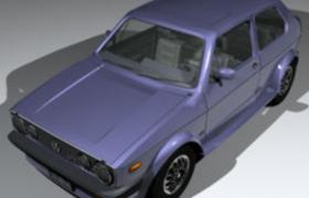 上汽大众VW老款高尔夫golf汽车低面C4D模型
