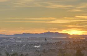 黄昏日落唯美壮丽自然景色延时实拍视频素材