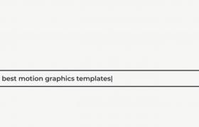 AE模板_簡易的圖文搜索框動畫視頻模板