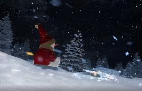 三维梦幻粒子飞舞旋转拖尾圣诞树展示圣诞快乐短视频制作模板
