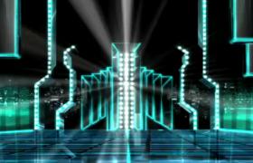 光束闪耀跳动节奏强烈动感震撼舞台背景视频参考