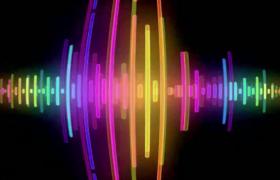 多種彩色光線節奏跳動動感音樂舞臺背景視頻素材