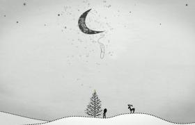 会声会影X8创意设计手绘画动画特效人物情节模版