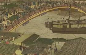 高清动态艺术呈现清明上河图形象逼真动画视频素材