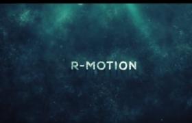 神秘的海底水下文字标题震撼演出影视开场片头视频AE模板