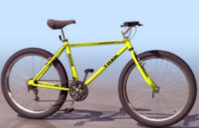 山地自行車翠綠的車架c4d模型mautainbike3D