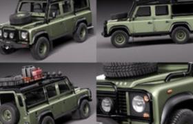 路虎衛士戶外越野吉普車C4D汽車模型下載