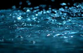 蓝色水面微波荡漾闪耀迷人实拍视频素材参考