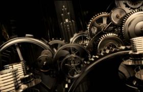 齿轮滋滋运转演绎精彩视频片头会声会影素材模版