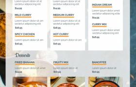 经典创意高端餐厅菜单封面样式平面模板