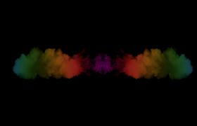彩色煙霧兩邊散開舞臺背景特效視頻素材