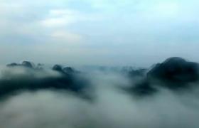 實拍桂林云霧覆蓋及云霧下的桂林美景素材